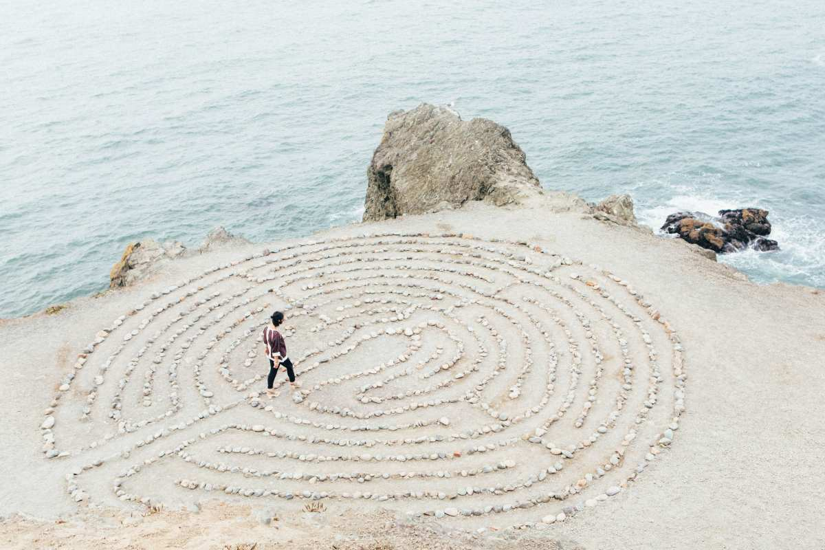 sand castle labyrinth existentialism