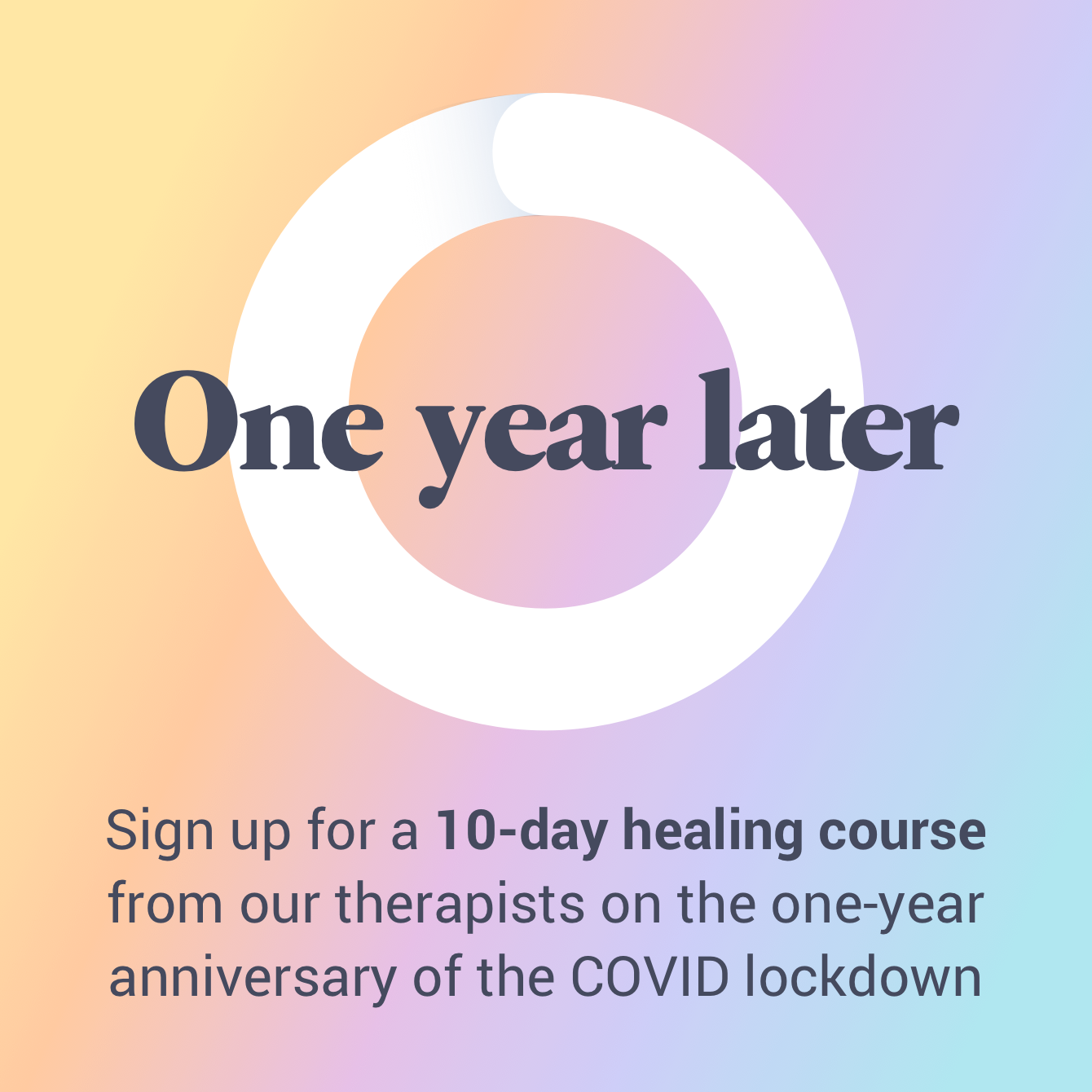 Sign Up for a 10-day healing course from our therapists